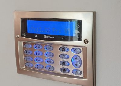 Satin Chrome Keypad Fitted In Cheshire